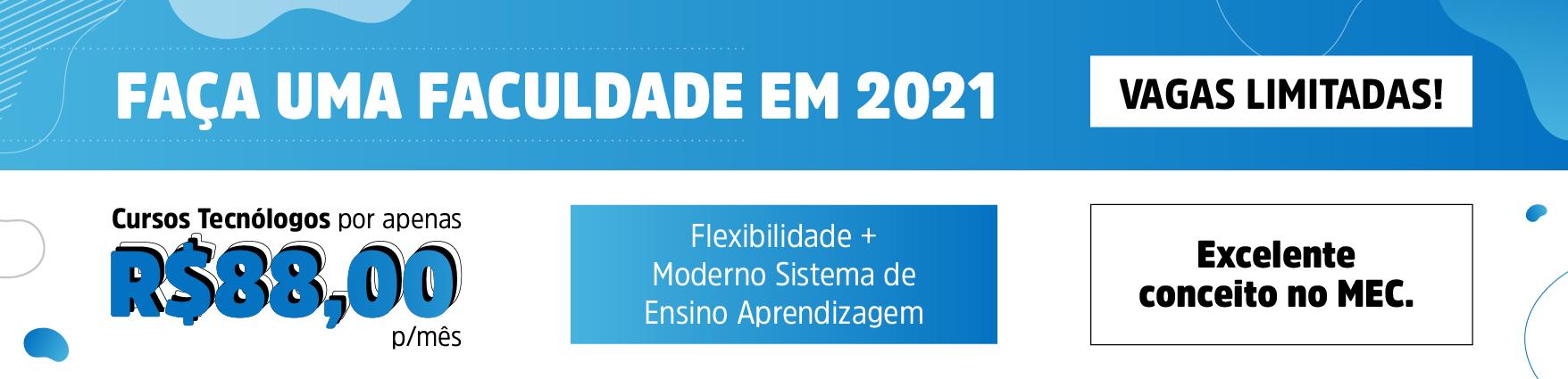 Fa�a faculdade em 2021